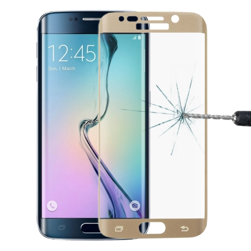 Buy LOPURS 0.2mm 9H Surface Hardness 3D Curved Surface Full Screen Cover Explosion-proof Tempered Glass Film for Samsung Galaxy S6 edge, Gold for $2.00 in SUNSKY store