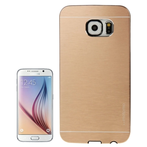 Buy For Samsung Galaxy S6 / G920 Brushed Texture Protective Case, Gold for $1.28 in SUNSKY store