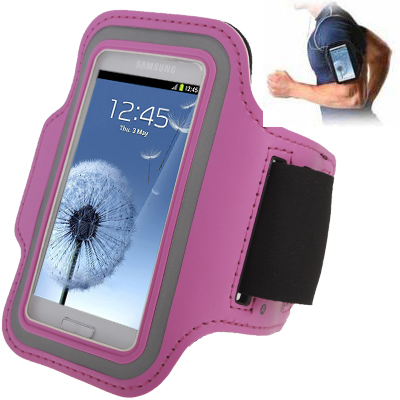 Buy Sports Armband Case with Earphone Hole for Samsung Galaxy SIII mini/ i8190, Galaxy Trend Duos / S7562, Pink for $1.56 in SUNSKY store