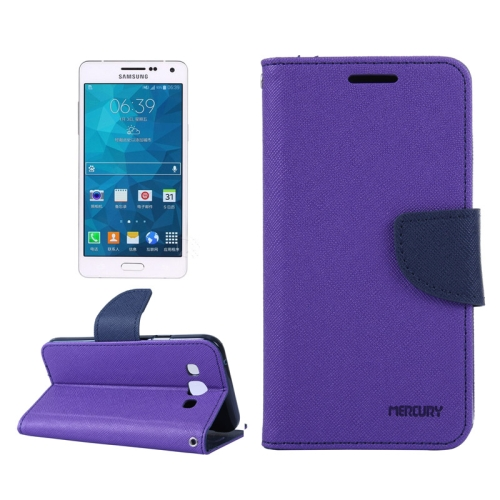 Buy MERCURY Cross Texture Contrast Color Style Leather Case with Holder & Card Slots & Wallet for Samsung Galaxy A3 / A300, Purple for $2.16 in SUNSKY store