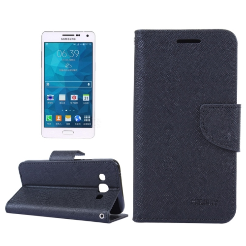 Buy MERCURY Cross Texture Contrast Color Style Leather Case with Holder & Card Slots & Wallet for Samsung Galaxy A5 / A500, Black for $2.16 in SUNSKY store