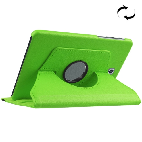 Buy For Samsung Galaxy Tab S2 8.0 / T710 / T715 Litchi Texture Horizontal Flip Solid Color Leather Case with 360 Degrees Rotation Holder, Green for $2.18 in SUNSKY store
