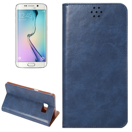 Buy For Samsung Galaxy S6 Edge+ / G928 Crazy Horse Texture Horizontal Flip Leather Case with Magnetic Buckle & Card Slot & Holder (Dark Blue) for $2.26 in SUNSKY store