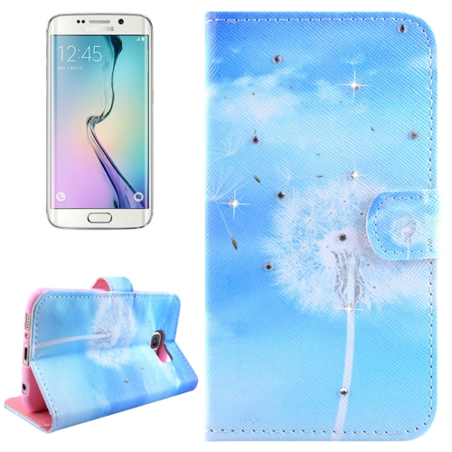 Buy For Samsung Galaxy S6 Edge / G925 Dandelions Pattern Horizontal Flip Diamond Encrusted Leather Case with Holder & Wallet & Card Slots for $2.48 in SUNSKY store
