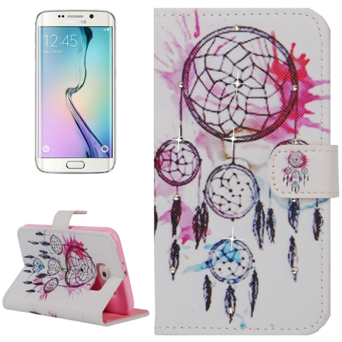 Buy For Samsung Galaxy S6 Edge / G925 Dreamcatcher Pattern Horizontal Flip Diamond Encrusted Leather Case with Holder & Wallet & Card Slots for $2.48 in SUNSKY store