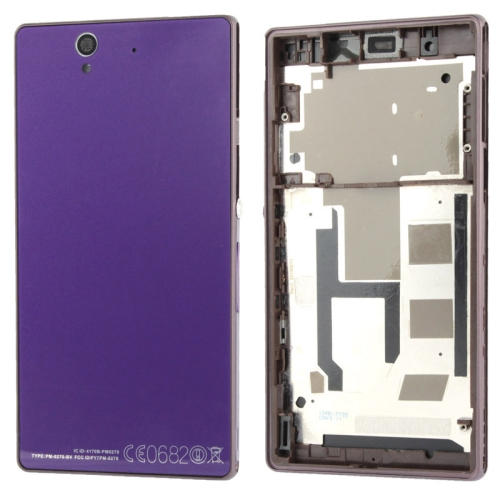 Buy Middle Board + Battery Back Cover for Sony L36H, Purple for $7.80 in SUNSKY store