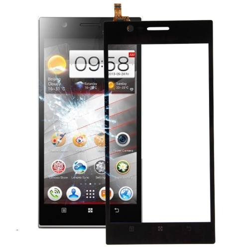 LCD Screen Mobile Phone and Digitizer Full Assembly for Lenovo K900 Black Color : Black