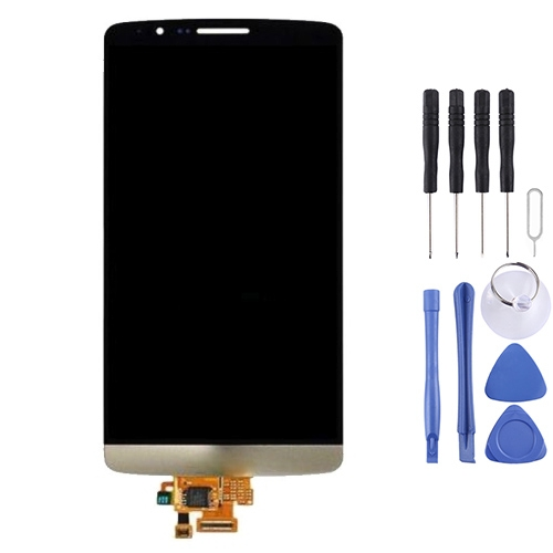 Buy iPartsBuy Original LCD Display + Touch Screen Digitizer Assembly for LG G3 mini D722 / D725, Gold for $21.28 in SUNSKY store