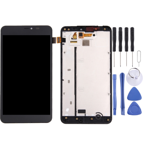 LCD Screen and Digitizer Full Assembly with Frame for Microsoft Lumia 640 XL(Black)