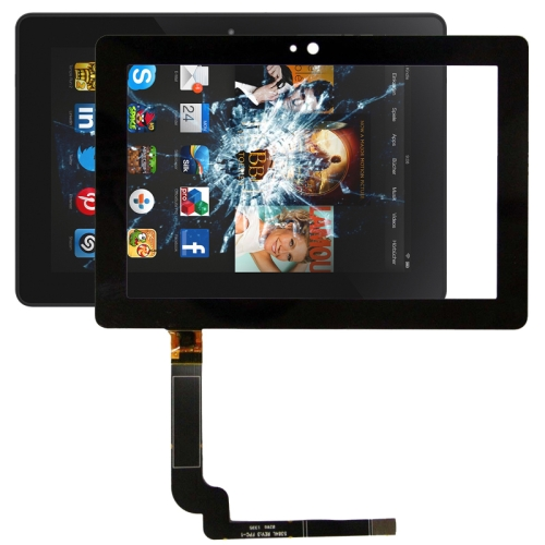 Touch Panel Replacement for Amazon Kindle Fire HDX 7 inch(Black)