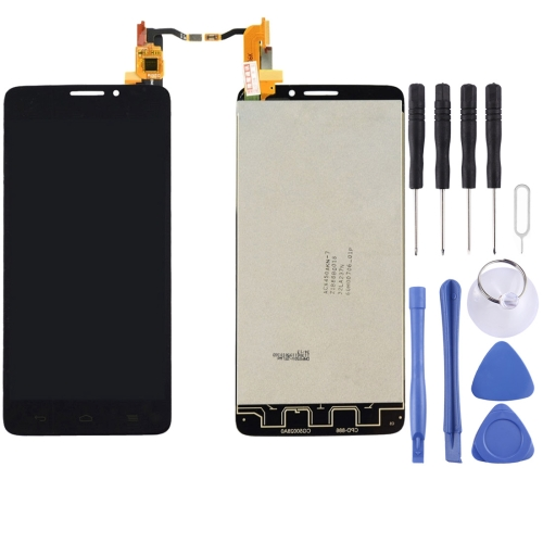 LCD Screen and Digitizer Full Assembly for Alcatel One Touch Idol X / 6040 / 6040A(Black)
