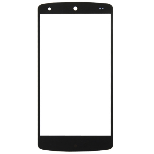 Front Screen Outer Glass Lens Replacement for Google Nexus 5(Black)