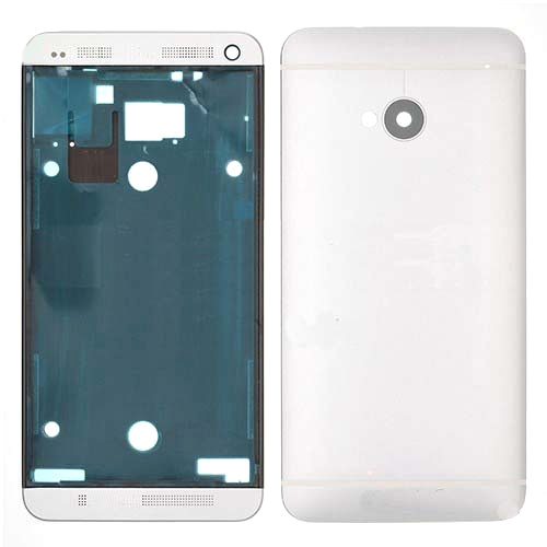 Buy iPartsBuy for HTC One M7 / 801e Full Housing Cover (Front Housing LCD Frame Bezel Plate + Back Cover), White for $8.51 in SUNSKY store
