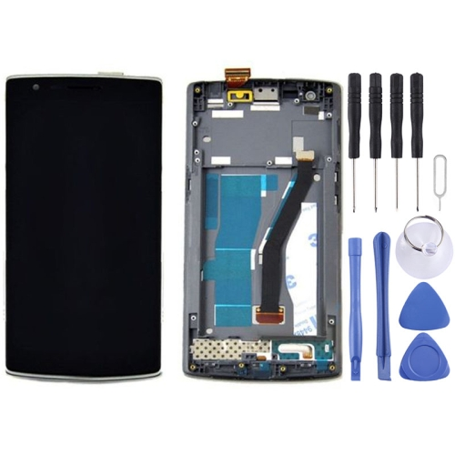 LCD Display + Touch Panel with Frame Replacement for OnePlus One(Black)