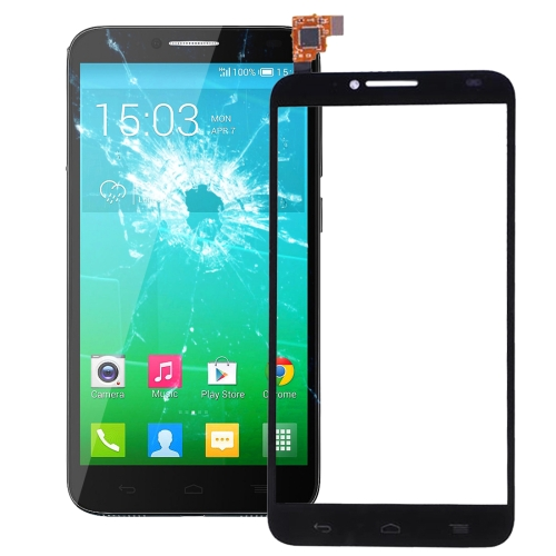 Touch Panel Replacement for Alcatel One Touch Idol 2 / OT6037 / 6037 / 6037Y(Black)