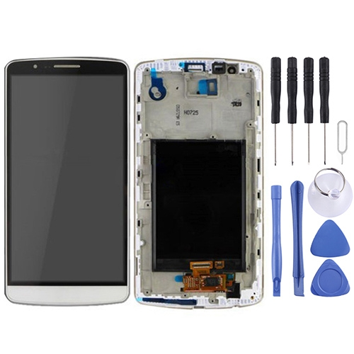 Buy iPartsBuy LCD Display + Touch Screen Digitizer Assembly with Frame for LG G3 / D850 / D851 / D855 / VS985, White for $35.97 in SUNSKY store