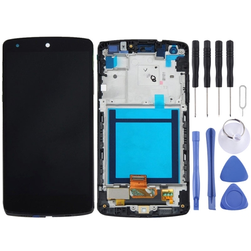 LCD Display + Touch Panel with Frame Replacement for Google Nexus 5 / D820 / D821(Black)