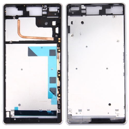 Front Housing LCD Frame Bezel Plate Replacement for Sony Xperia Z3 / L55w / D6603(White)