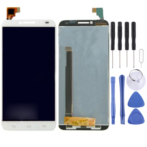Buy iPartsBuy LCD Screen + Touch Screen Digitizer Assembly for Alcatel One Touch Idol 2 / 6037, White for $25.50 in SUNSKY store