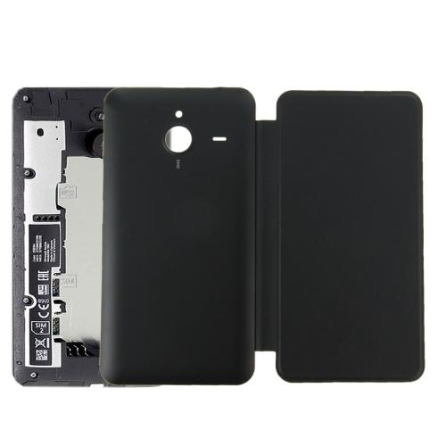 Original Horizontal Flip Leather Case + Plastic Back Cover for Microsoft Lumia 640XL(Black)