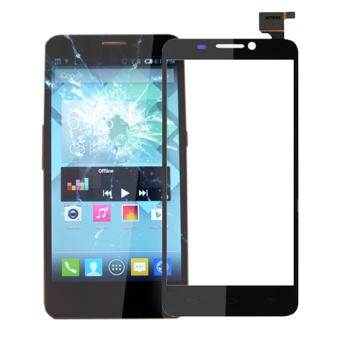 Touch Panel Replacement for Alcatel one Touch Idol S / 6034 / OT6034(Black)