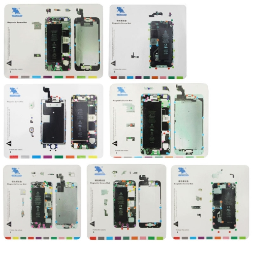 7 in 1 Magnetic Screws Mat for iPhone 6s / iPhone 6 Plus / iPhone 6 / iPhone 5S / iPhone 5 / iPhone 4S / iPhone 4