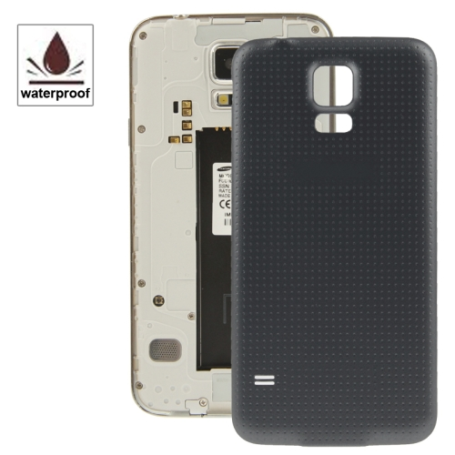 Original Plastic Material Battery Housing Door Cover with Waterproof Function for Galaxy S5 / G900 (Black)