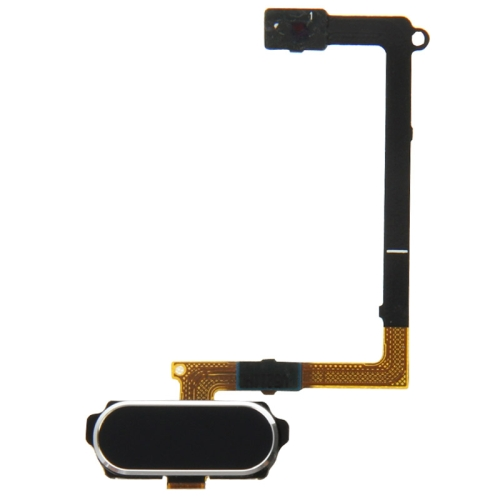 Home Button Flex Cable with Fingerprint Identification Replacement for Galaxy S6 / G920F(Black)