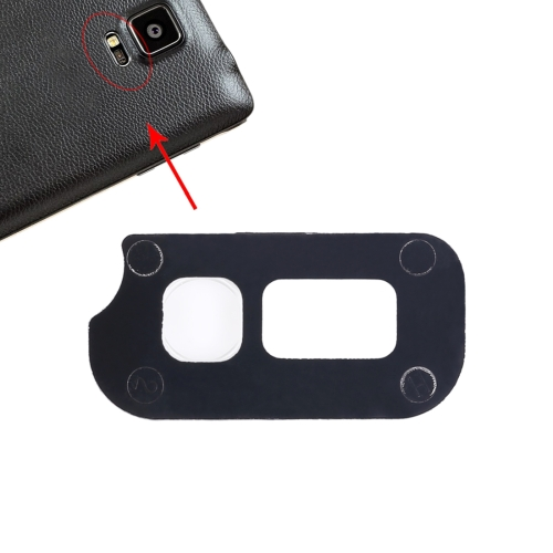 Camera Flash Cover Replacement for Galaxy Note IV / N910(Black)