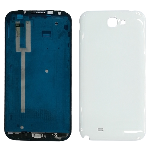High Qualiay Full Housing Chassis (LCD Frame Bezel + Back Cover) for Galaxy Note II / N7100(White)