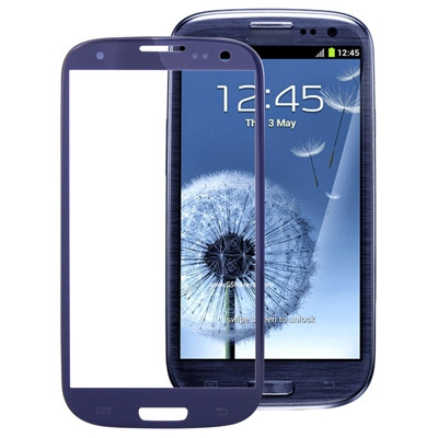 Original Front Screen Outer Glass Lens For Galaxy SIII / i9300(Dark Blue)