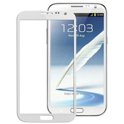 Original Front Screen Outer Glass Lens for Galaxy Note II / N7100(White)