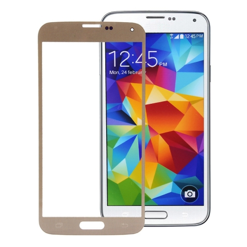 Front Screen Outer Glass Lens for Galaxy S5 / G900 (Gold)