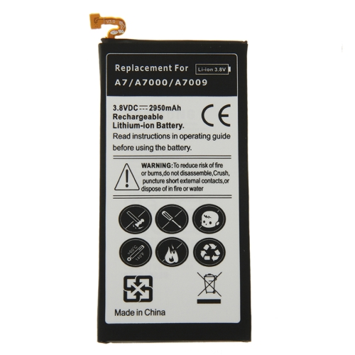 2950mAh High Capacity Rechargeable Li-ion Battery for Galaxy A7 / A7000 / A7009