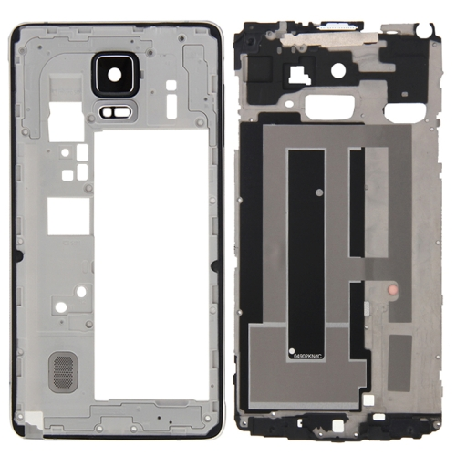 Buy iPartsBuy Full Housing Cover Replacement (Front Housing LCD Frame Bezel Plate + Middle Frame Bazel Back Plate Housing Camera Lens Panel Replacement) for Samsung Galaxy Note 4 / N910F, Black for $13.01 in SUNSKY store