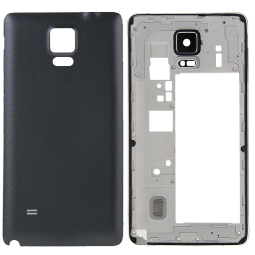 Buy iPartsBuy Full Housing Cover Replacement (Middle Frame Bazel Back Plate Housing Camera Lens Panel + Battery Back Cover Replacement) for Samsung Galaxy Note 4 / N910F, Black for $10.43 in SUNSKY store