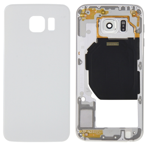 Buy iPartsBuy Full Housing Cover Replacement (Back Plate Housing Camera Lens Panel + Battery Back Cover Replacement) for Samsung Galaxy S6 / G920F, White for $9.24 in SUNSKY store