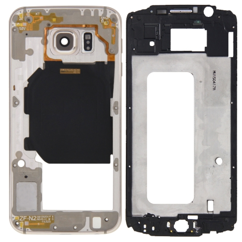 Buy iPartsBuy Full Housing Cover Replacement (Front Housing LCD Frame Bezel Plate + Back Plate Housing Camera Lens Panel Replacement) for Samsung Galaxy S6 / G920F, Gold for $9.73 in SUNSKY store