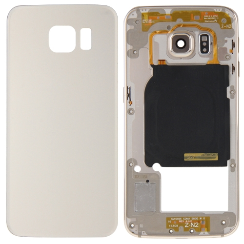 Buy iPartsBuy Full Housing Cover (Back Plate Housing Camera Lens Panel + Battery Back Cover) for Samsung Galaxy S6 Edge / G925, Gold for $11.91 in SUNSKY store