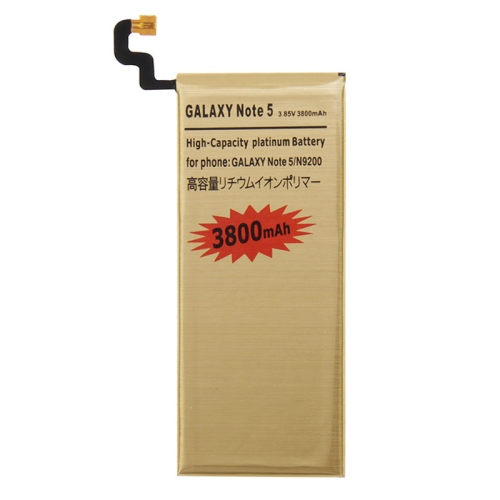 3800mAh High Capacity Gold Rechargeable Li-Polymer Battery for Galaxy Note 5 / N9200(Gold)