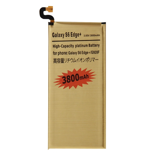 3800mAh High Capacity Gold Rechargeable Li-Polymer Battery for Galaxy S6 Edge+ / G928F(Gold)