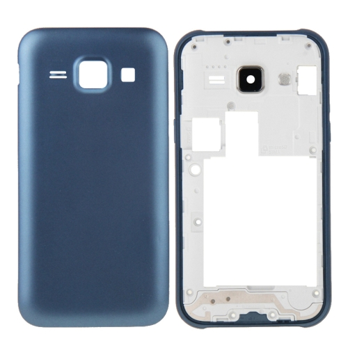 Buy iPartsBuy Full Housing Cover (Middle Frame Bazel + Battery Back Cover) + Home Button for Samsung Galaxy J1 / J100, Blue for $4.46 in SUNSKY store