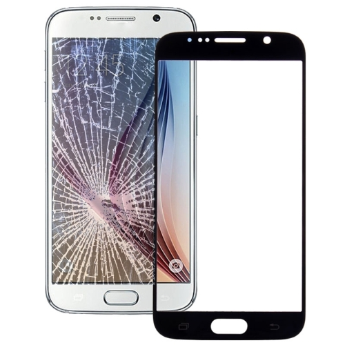 Original Front Screen Outer Glass Lens for Galaxy S6 / G920F(Black)