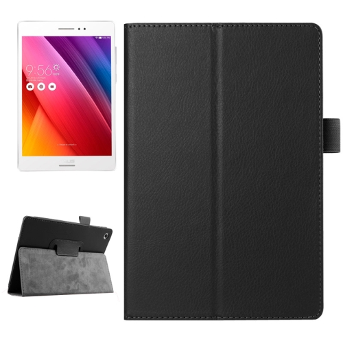 Buy Litchi Texture Horizontal Flip Solid Color Smart Leather Case with Holder & Sleep / Wake-up Function for ASUS ZenPad S 8.0 / Z580C, Black for $2.55 in SUNSKY store
