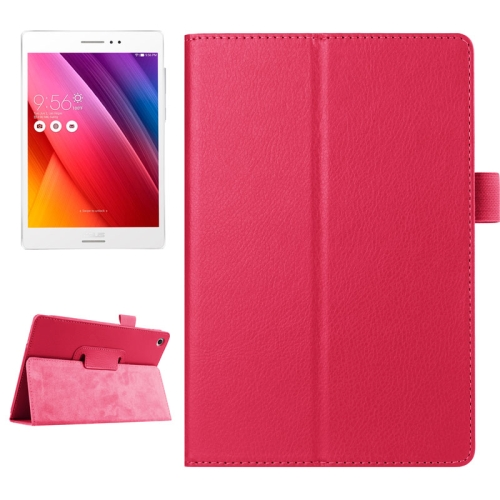 Buy Litchi Texture Horizontal Flip Solid Color Smart Leather Case with Holder & Sleep / Wake-up Function for ASUS ZenPad S 8.0 / Z580C, Magenta for $2.55 in SUNSKY store