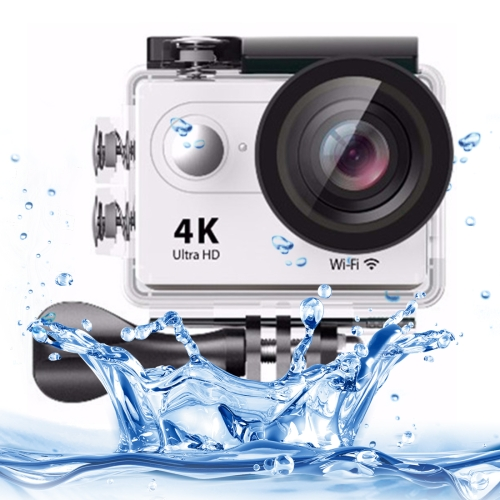 Buy H9 4K Ultra HD1080P 12MP 2 inch LCD Screen WiFi Sports Camera, 170 Degrees Wide Angle Lens, 30m Waterproof, White for $38.26 in SUNSKY store