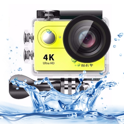 Buy H9 4K Ultra HD1080P 12MP 2 inch LCD Screen WiFi Sports Camera, 170 Degrees Wide Angle Lens, 30m Waterproof, Yellow for $38.26 in SUNSKY store
