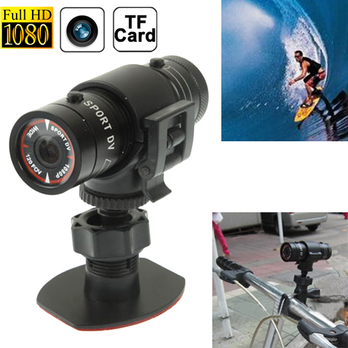 sunsky f9 full hd 1080p action helmet camera sports camera bicycle camera support tf card. Black Bedroom Furniture Sets. Home Design Ideas