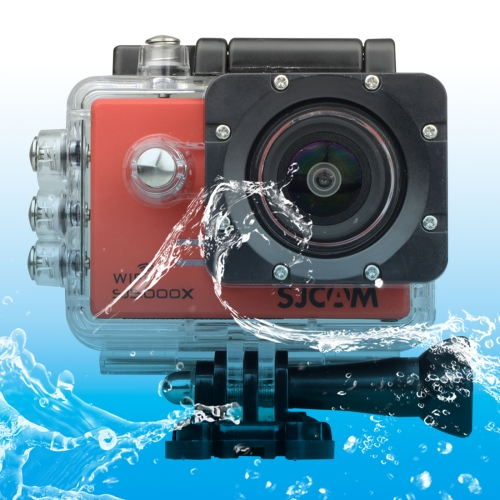 Buy SJCAM SJ5000X WiFi Ultra HD 2K 2.0 inch LCD Sports Camcorder with Waterproof Case, 170 Degrees Wide Angle Lens, 30m Waterproof, Red for $123.85 in SUNSKY store