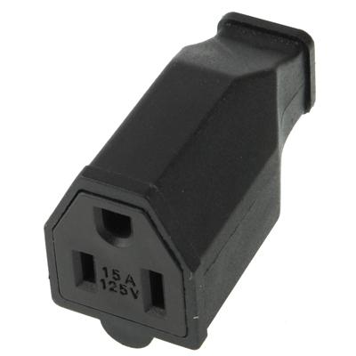 Buy US Plug Female AC Wall Universal Travel Power Socket Plug Adaptor, Black for $1.39 in SUNSKY store